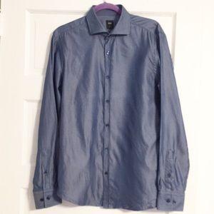 Hugo Boss Tailored Fit Cotton & Silk Blend Shirt M